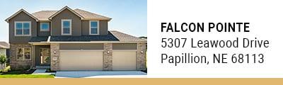 Falcon Pointe model homes in Papillion