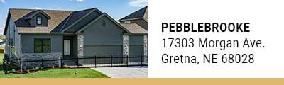 Pebblebrook model homes in Gretna